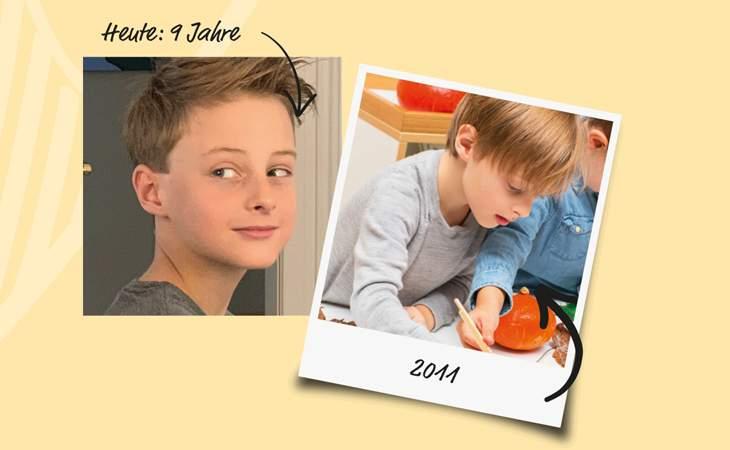 braunhaariger-kleiner-junge-und-wie-er-jahre-später-aussieht