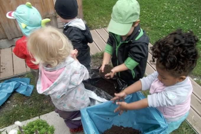 Gartenprojekt Kinderkrippe Trudering - Wichtel Akademie München