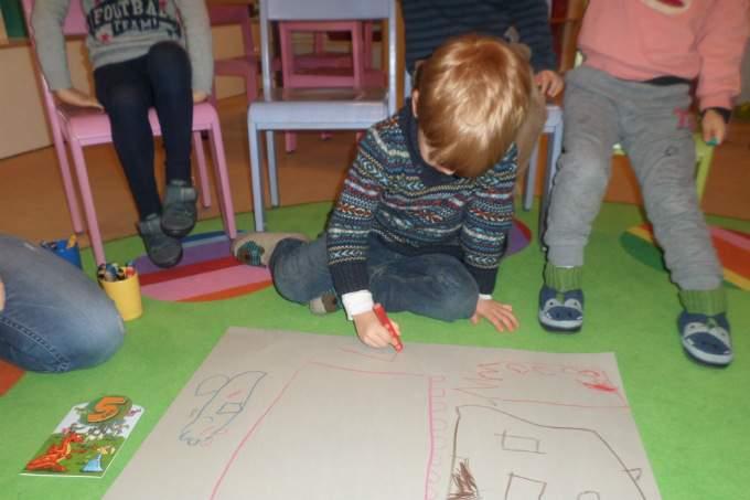 Kindergarten - Malen - Freispiel - Wichtel Akademie München