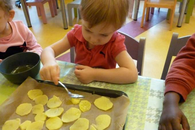 Kartoffeln - Öl - bepinseln - Wichtel Akademie München