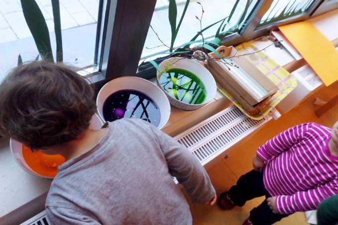 Ostern - Eier färben - Wichtel Akademie München