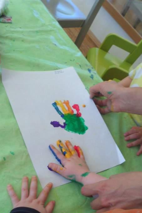 Handabdruck - Farbe - Wichtel Akademie München