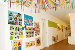 Wanddekoration Krippe und Kindergarten Trudering Wichtel Akademie München