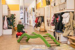 Garderobe Kinderkrippe und Kindergarten Trudering Wichtel Akademie München